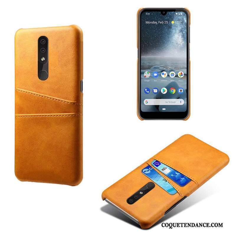 Nokia 4.2 Coque Étui Jaune De Téléphone Étui En Cuir Carte