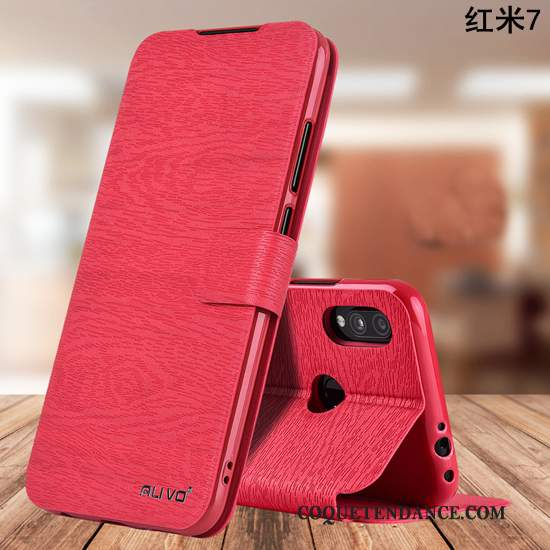 Redmi 7 Coque Silicone Business Rouge Incassable Clamshell