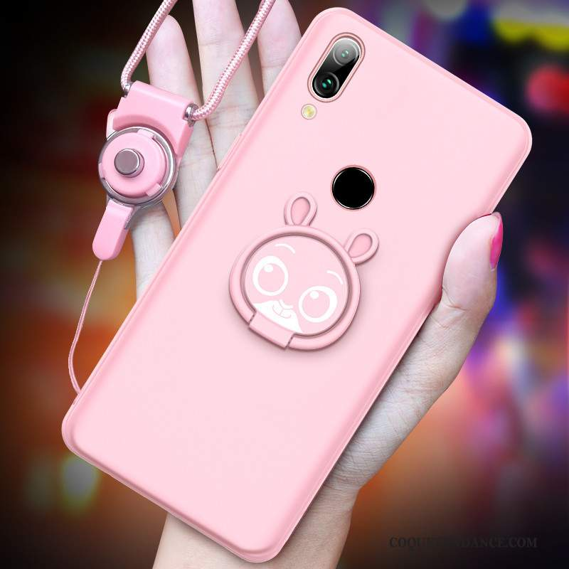 Redmi Note 7 Coque Étui Charmant Dessin Animé Protection Rose