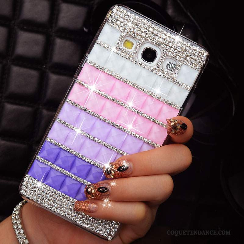 Samsung Galaxy A3 2015 Coque Strass Mince Multicolore Protection