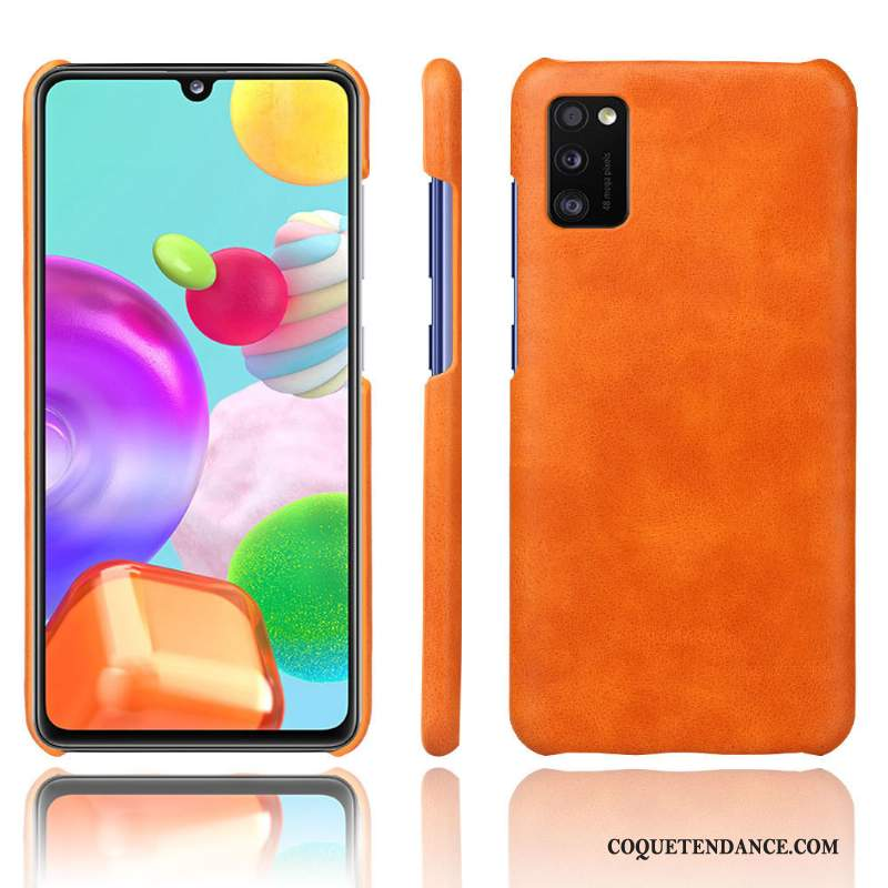 Samsung Galaxy A41 Coque De Téléphone Protection Orange Simple Qualité