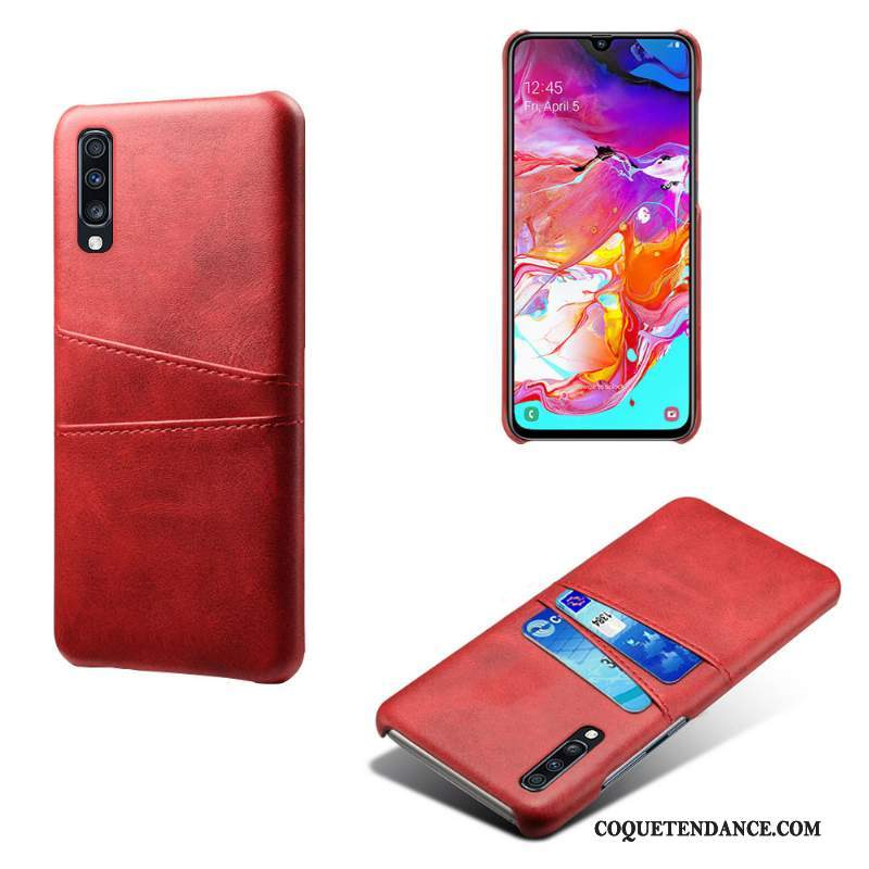 Samsung Galaxy A70s Coque Cuir Protection Rouge Créatif