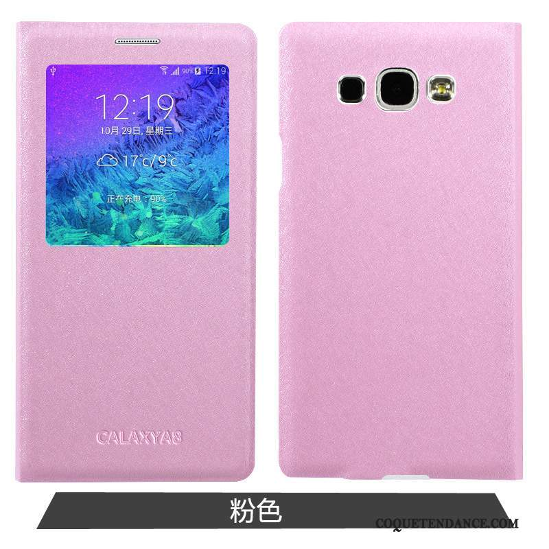 Samsung Galaxy A8 Coque Simple Rose Protection Étui