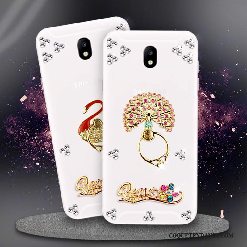Samsung Galaxy J5 2017 Coque Blanc Europe Étui Strass Protection