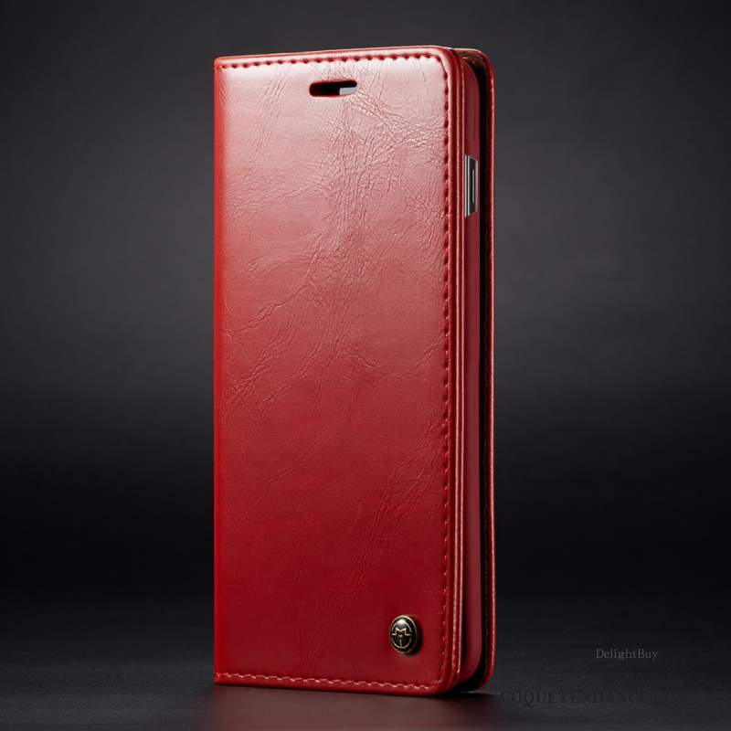 Samsung Galaxy Note 10+ Coque Carte Portefeuille Rouge Cuir Protection