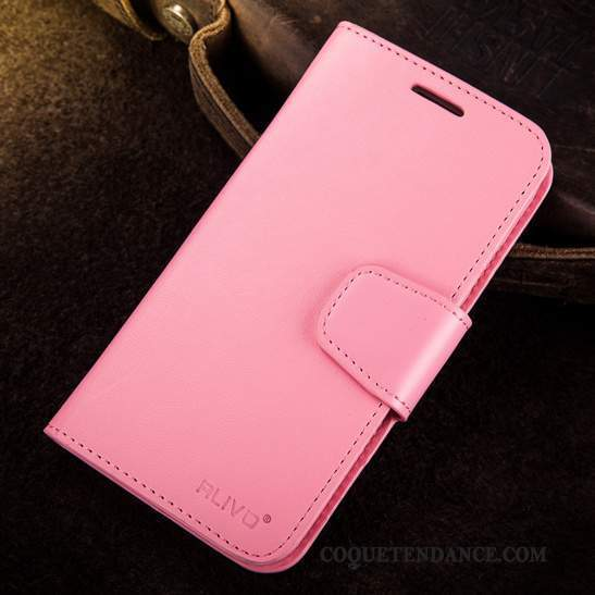 Samsung Galaxy Note 3 Coque Étui En Cuir Silicone Protection Rose