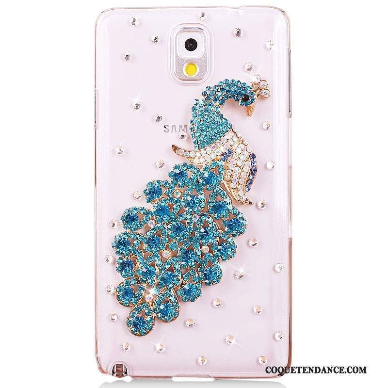 Samsung Galaxy Note 3 Coque Bleu Strass Tendance Protection