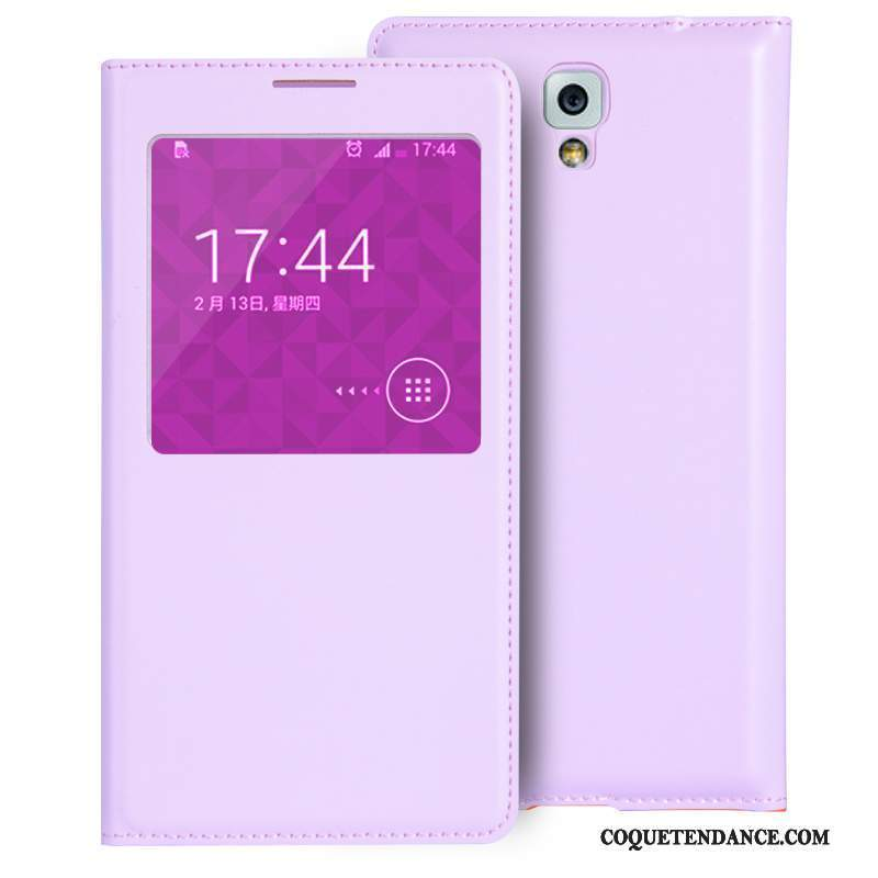 Samsung Galaxy Note 3 Coque Mini Housse Violet Protection Étui
