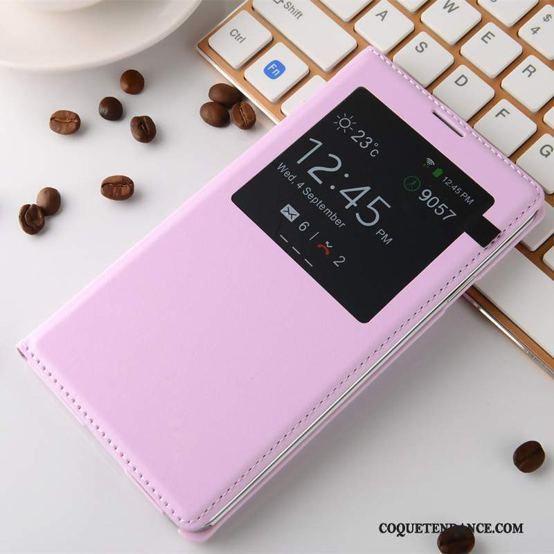 Samsung Galaxy Note 3 Coque Rose Tendance Dormance Étui Protection
