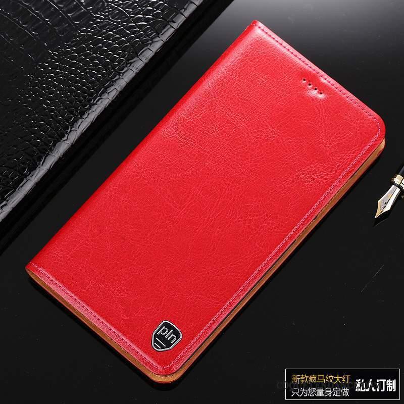Samsung Galaxy Note 3 Coque Rouge Étui En Cuir De Téléphone Protection Cuir Véritable