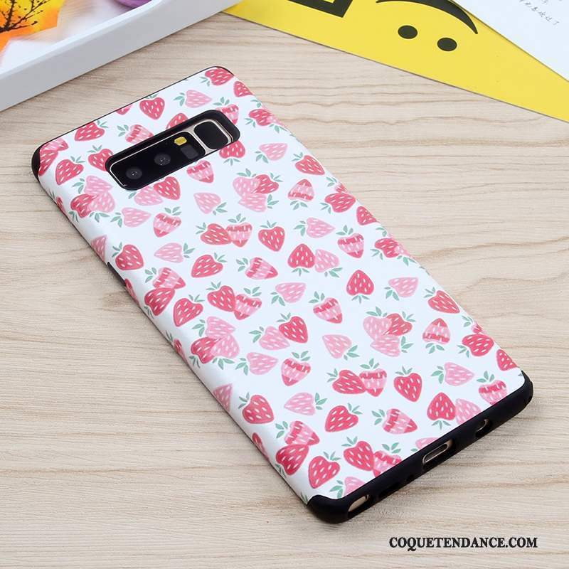 Samsung Galaxy Note 8 Coque Rose Fluide Doux Protection Incassable Silicone