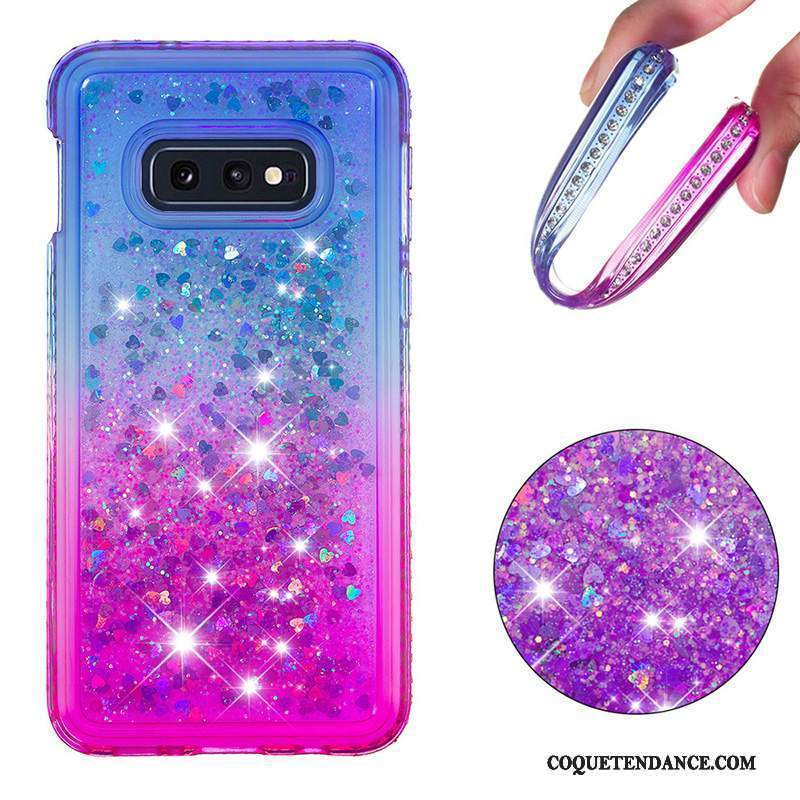 Samsung Galaxy S10e Coque Dégradé Bleu Violet Incassable Quicksand