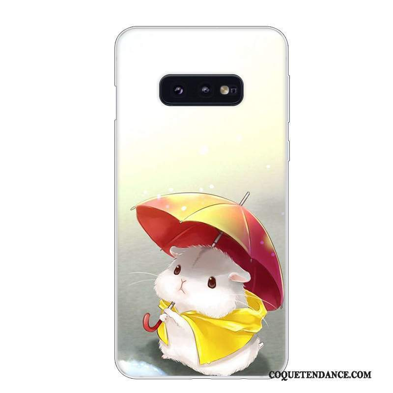 Samsung Galaxy S10e Coque Incassable Rouge Blanc Protection Étui