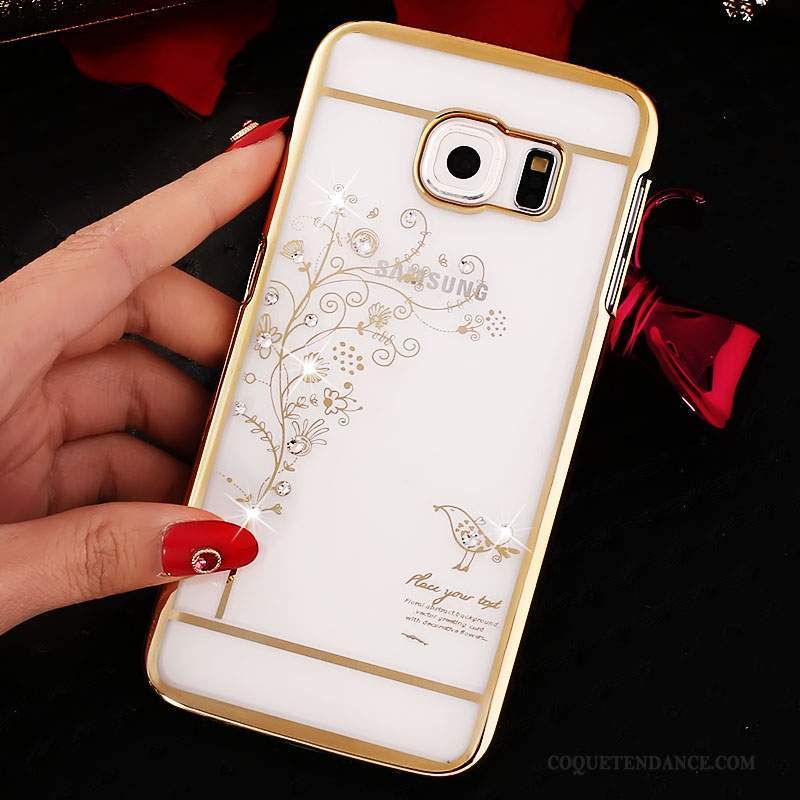Samsung Galaxy S6 Coque Strass Placage Protection Étui Or