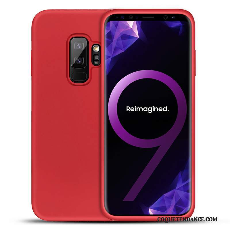 Samsung Galaxy S9+ Coque Silicone Étui Rouge Protection Incassable