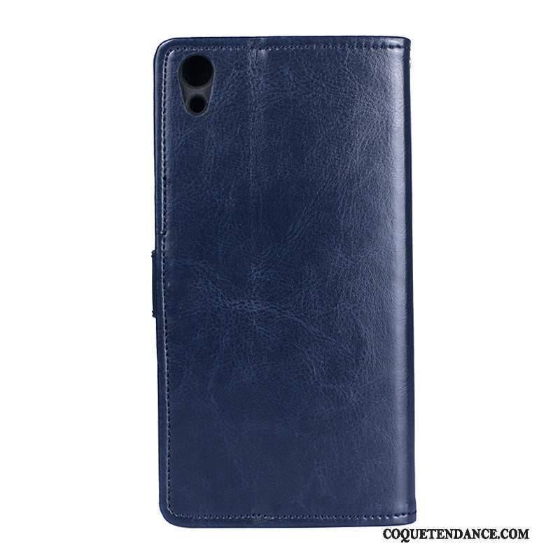 Sony Xperia Xa1 Ultra Coque De Téléphone Étui Bleu Étui En Cuir Portefeuille