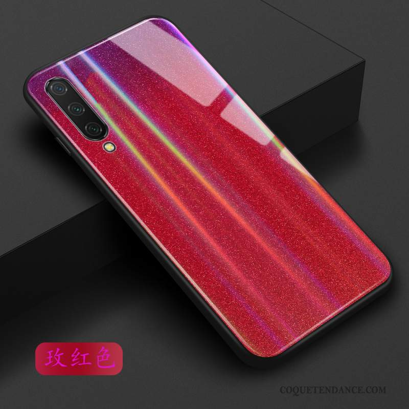 Xiaomi Mi A3 Coque Verre Protection Incassable Étui Rouge