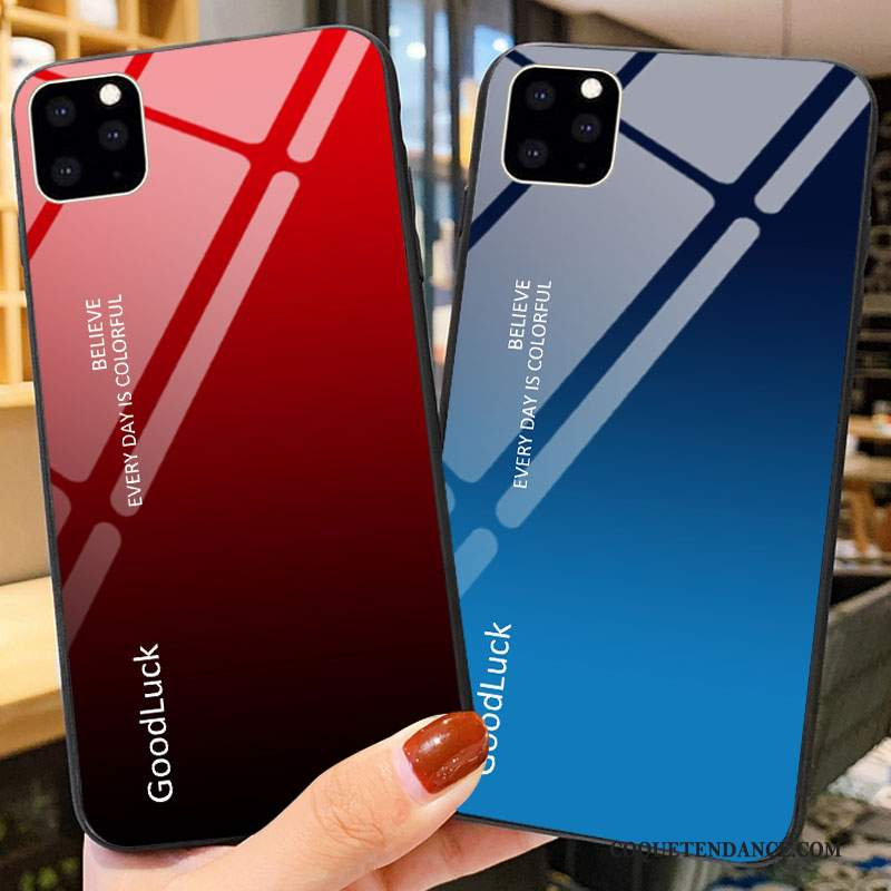 iPhone 11 Pro Coque Verre Silicone Difficile Protection Amoureux