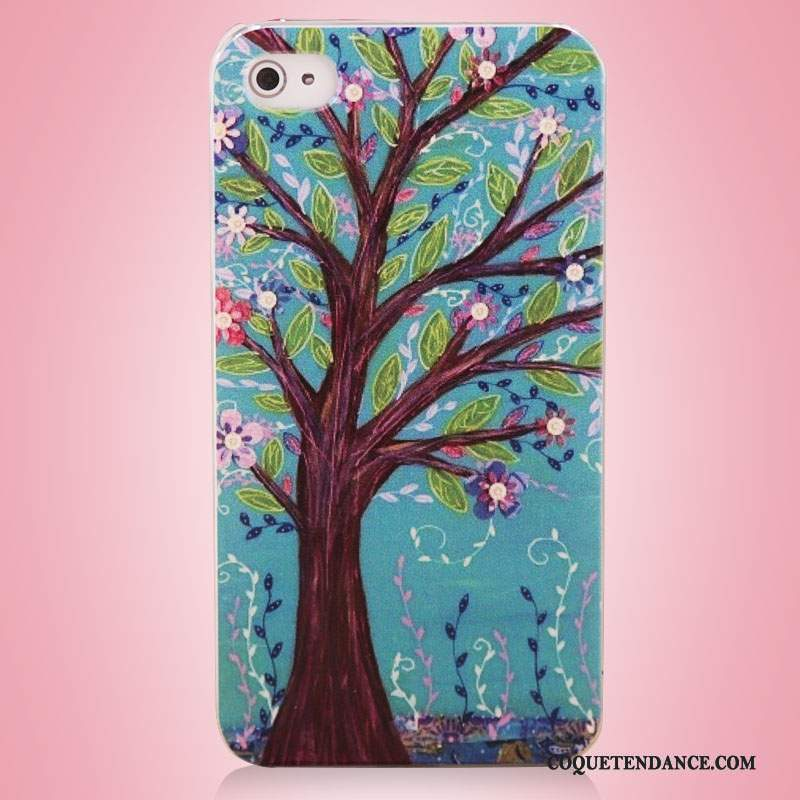 iPhone 4/4s Coque Art Bleu Multicolore Étui