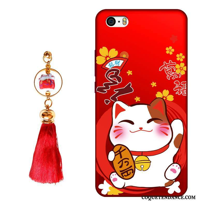 iPhone 4/4s Coque Chat Rouge Protection Étui Fluide Doux