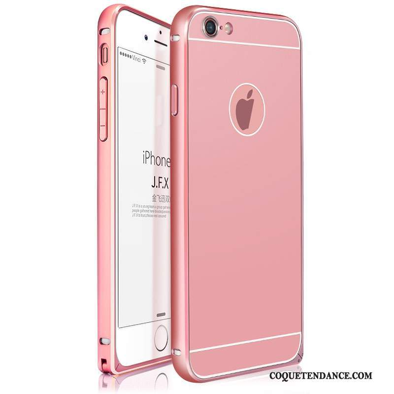 iPhone 6/6s Plus Coque Incassable Rose Border Alliage Métal