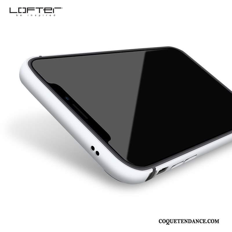 catch official shop store iPhone X Coque Incassable Blanc De Téléphone Délavé En Daim Argent