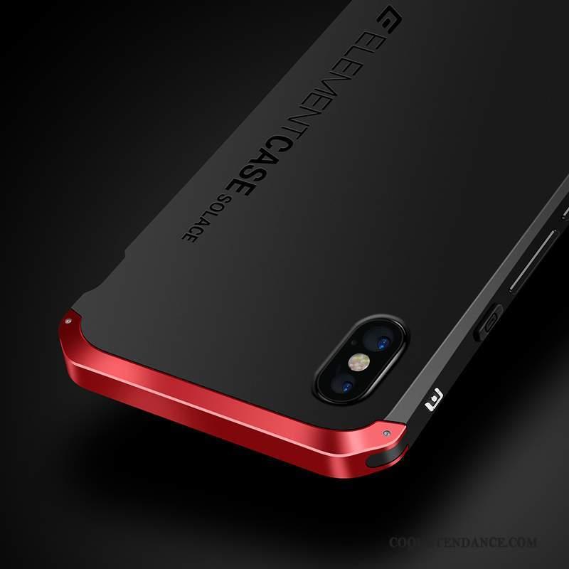 Iphone X Coque Marque De Tendance De Téléphone Métal Rouge Protection Pas  Cher e9b5227b50e5