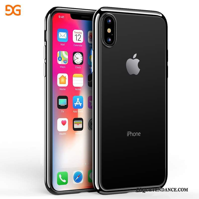 iPhone X Coque Tendance Étui Transparent Incassable Silicone