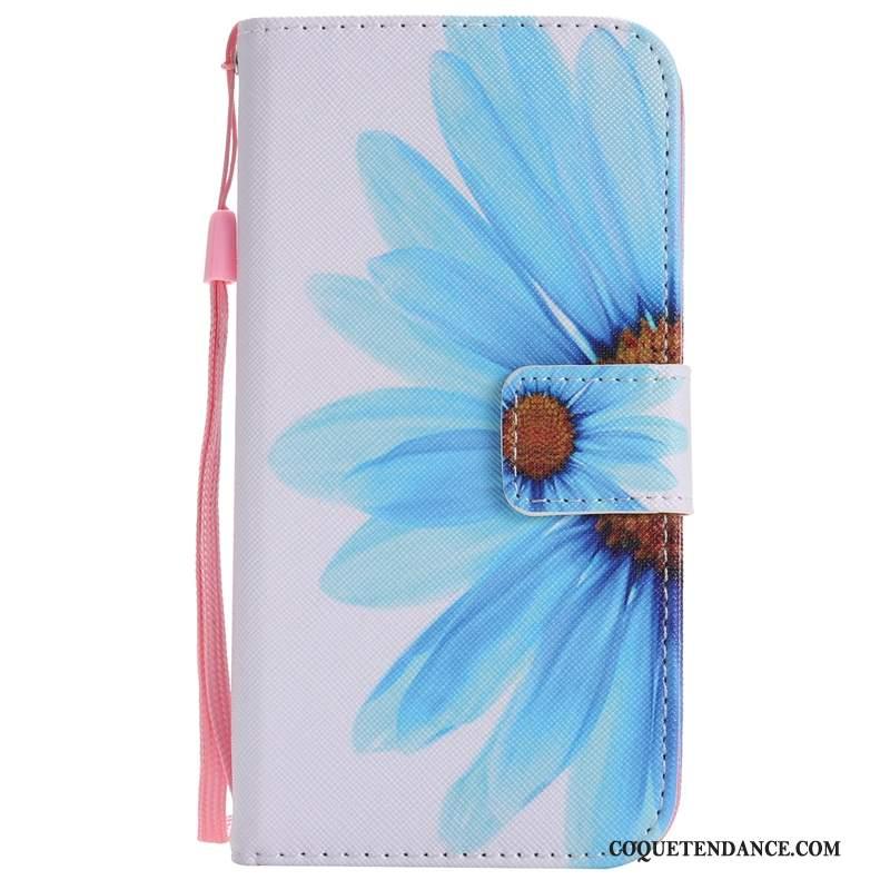 iPhone Xs Coque Bleu Protection De Téléphone Étui En Cuir Tournesol